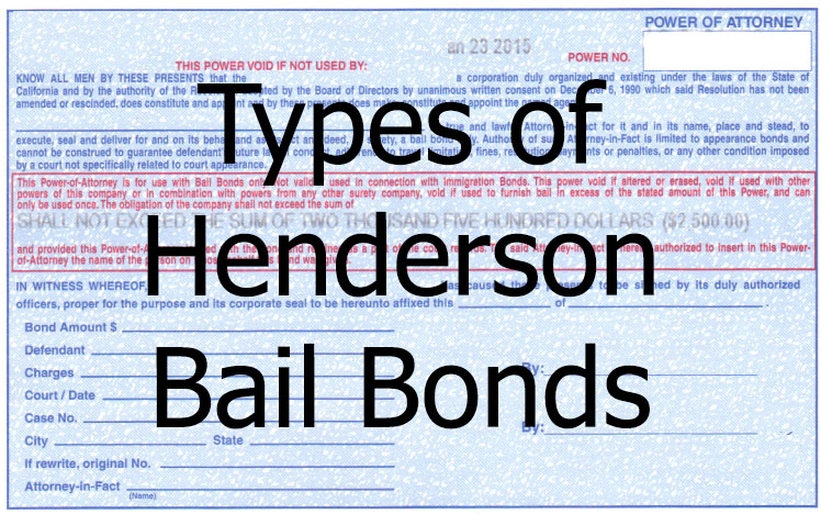 Types of Henderson Bail Bonds